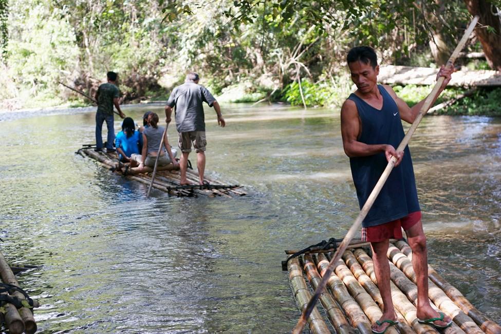 Paddling på bambuflottar, Chiang Mai
