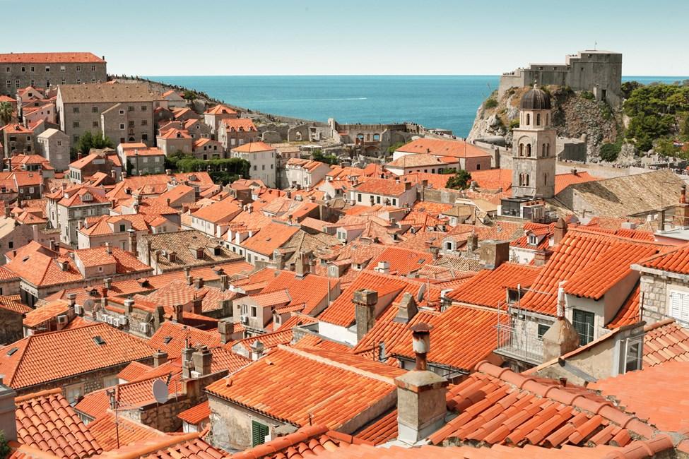 Gamla stan i Dubrovnik, sett från ringmuren