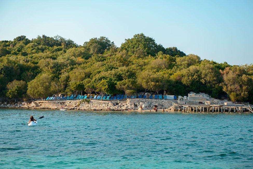 Stranden vid Ksamil