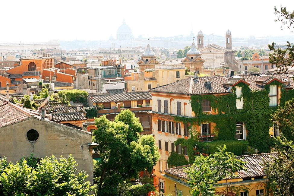 Rom, sett från Spanska trappan