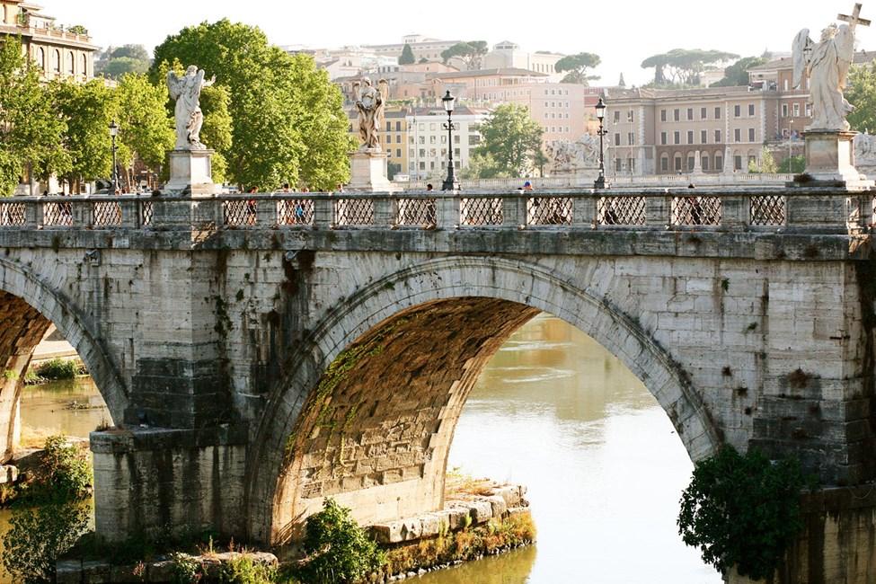Bron vid Castel Sant'Angelo, Rom