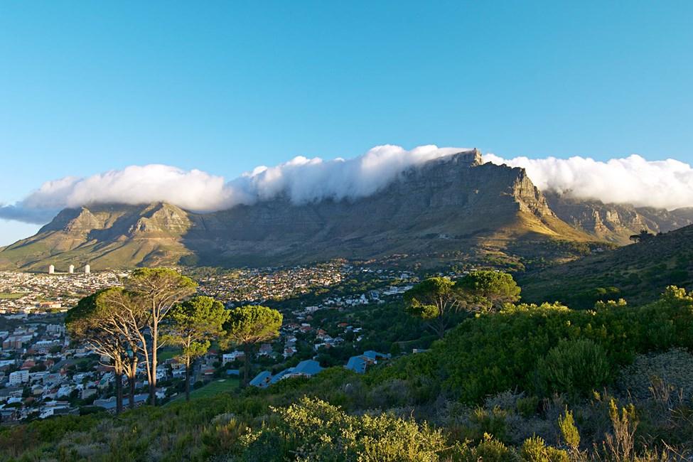 Utsikt över Taffelberget från Signal Hill, Kapstaden