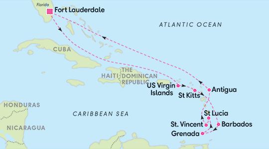 Resrutt för Kryssning i södra Karibien 12 nätter - Ving