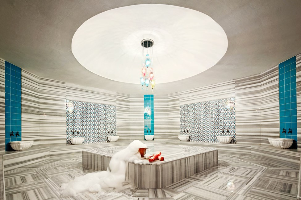 Hotellets spa med hamam.
