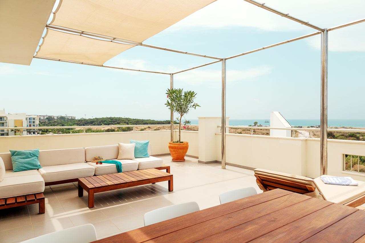 Terrassen på Royal Rooftop Suite.