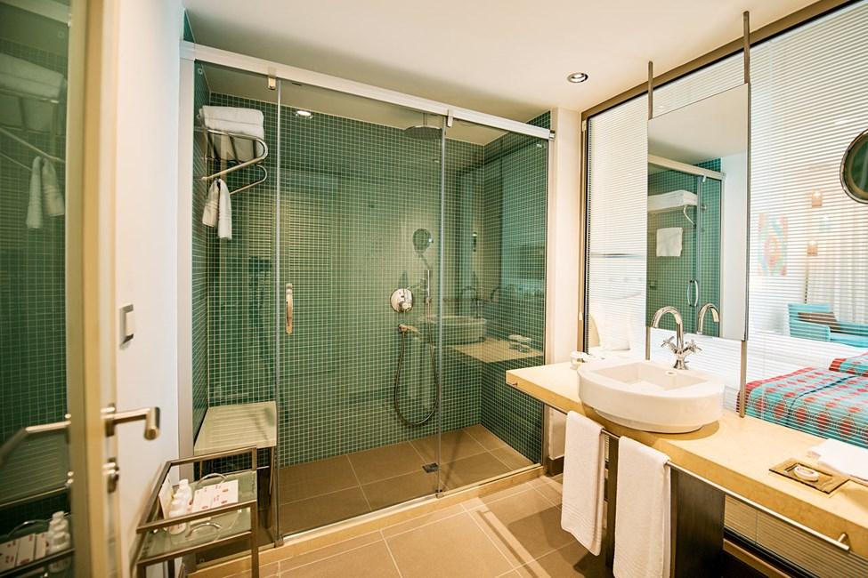 Badrum i ett av dublettrummen