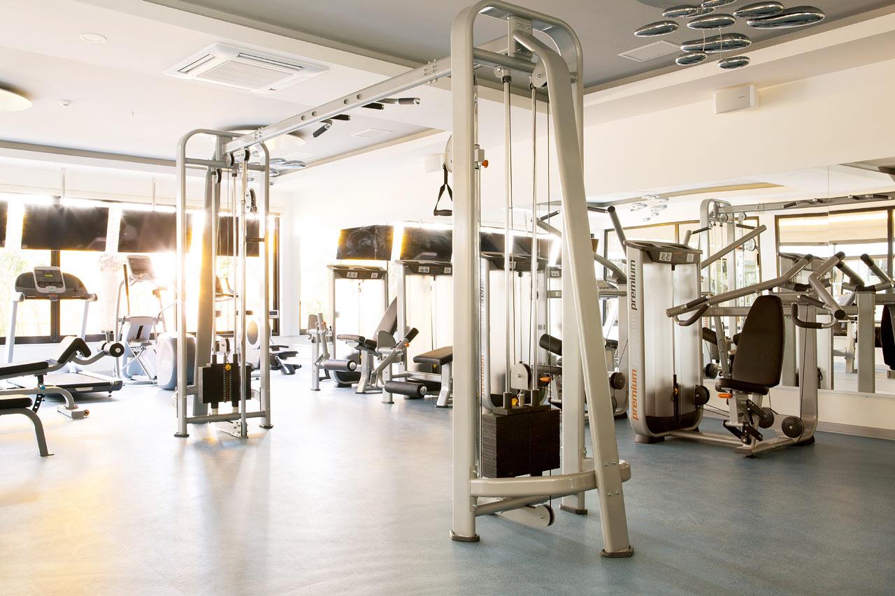 Självklart ingår gratis träning i det fräscha gymmet
