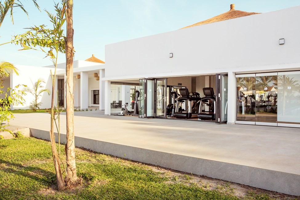 Träna på egen hand i hotellets gym