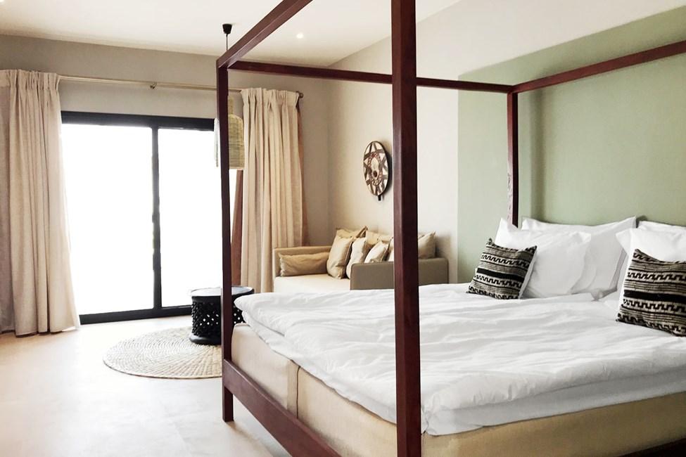 Exempel på sov- och vardagsrumsdel i suiterna