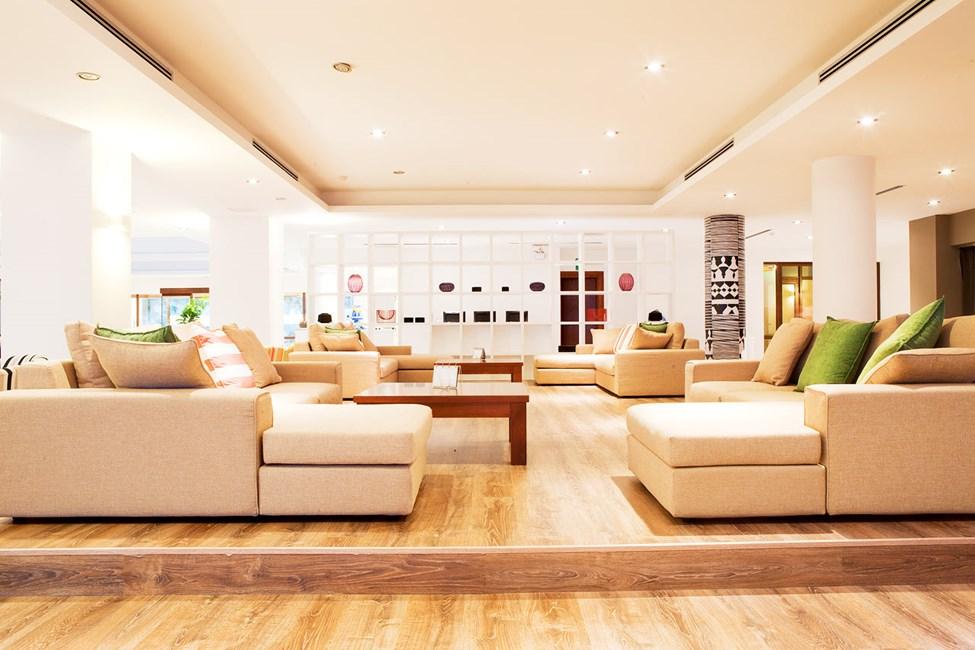 Prime Lounge erbjuder skön avkoppling.