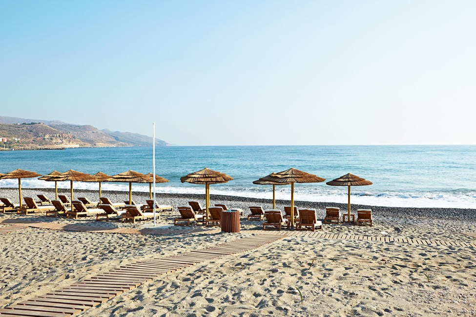 Stranden närmast hotellet