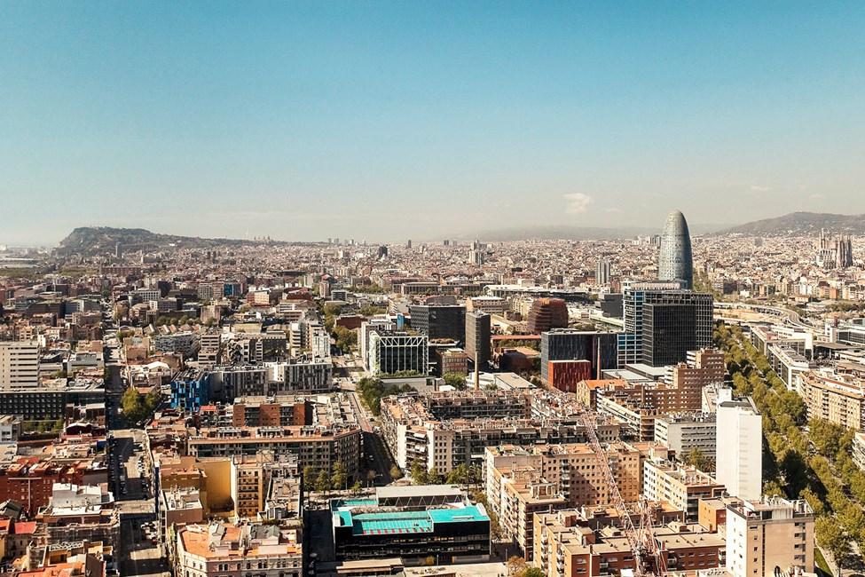 Utsikt över södra Barcelona
