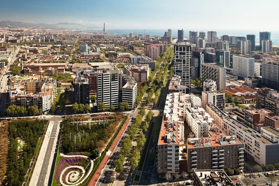 Utsikt över norra Barcelona