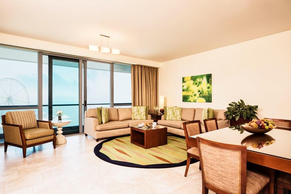Exempel på vardagsrum i lägenheterna