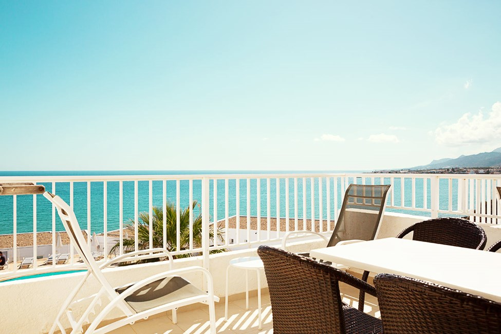 Enrumslägenhet Royal Family Suite, balkong med havsutsikt, Apollon.