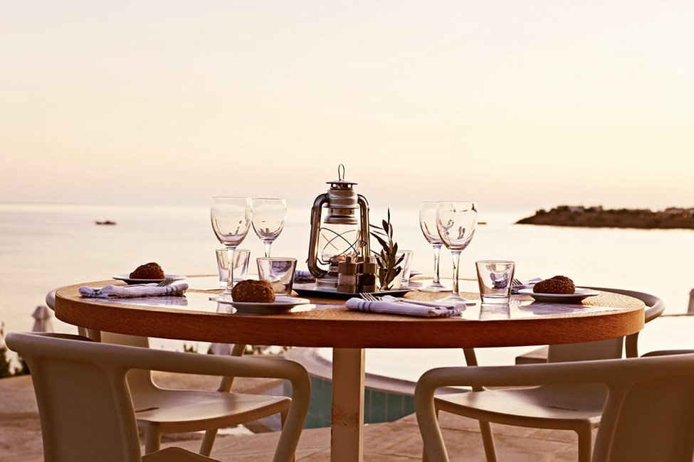 Uteserveringen på Ocean Beach Restaurang.