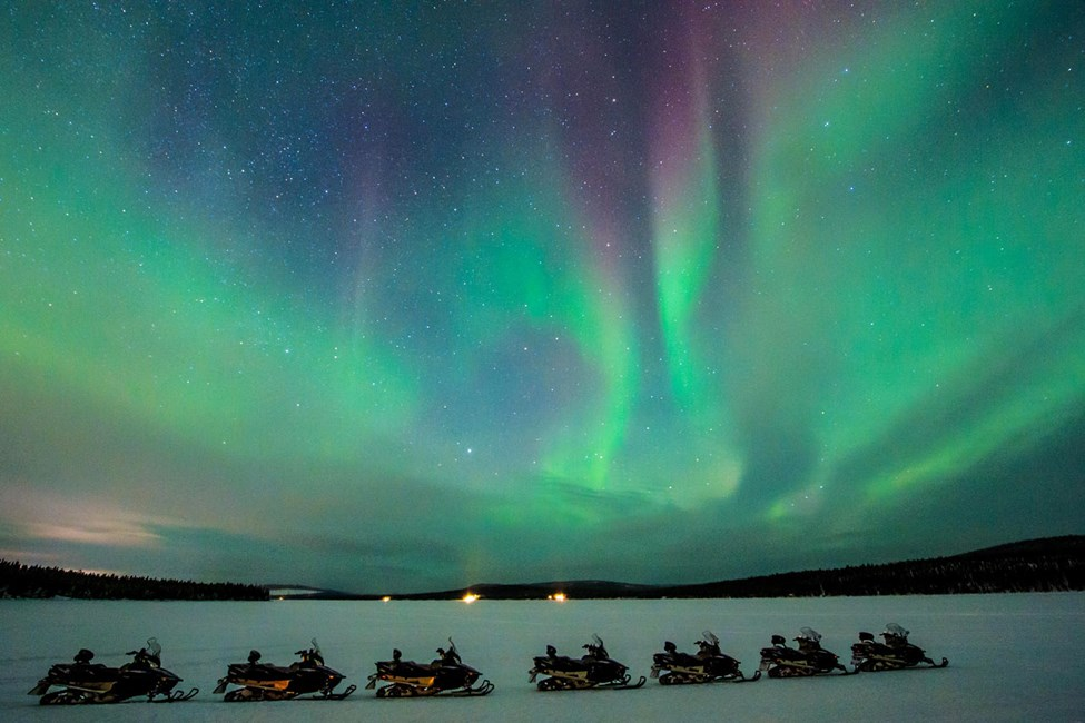 Norrskenssafari på skoter. Foto av Asaf Kliger
