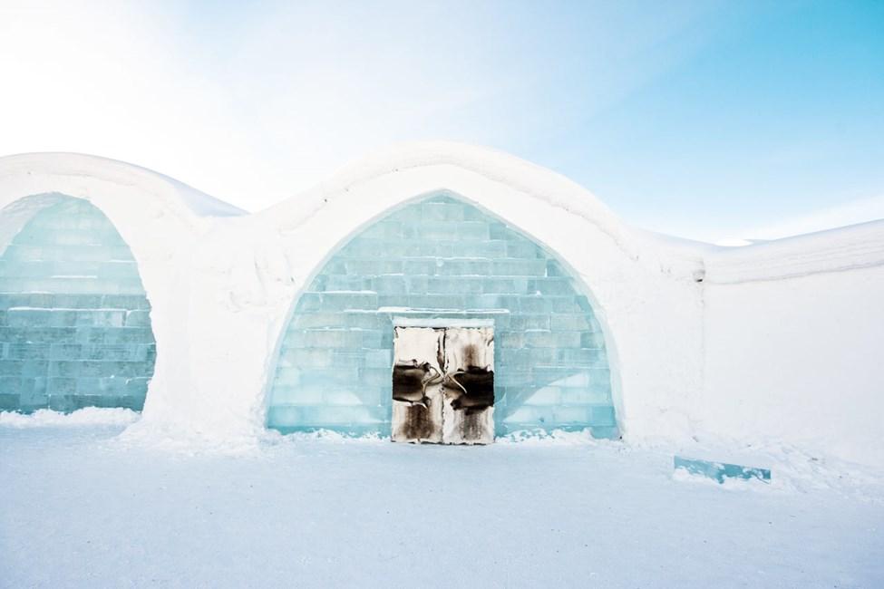 Icehotel Vinter. Foto av Martin Smedsen