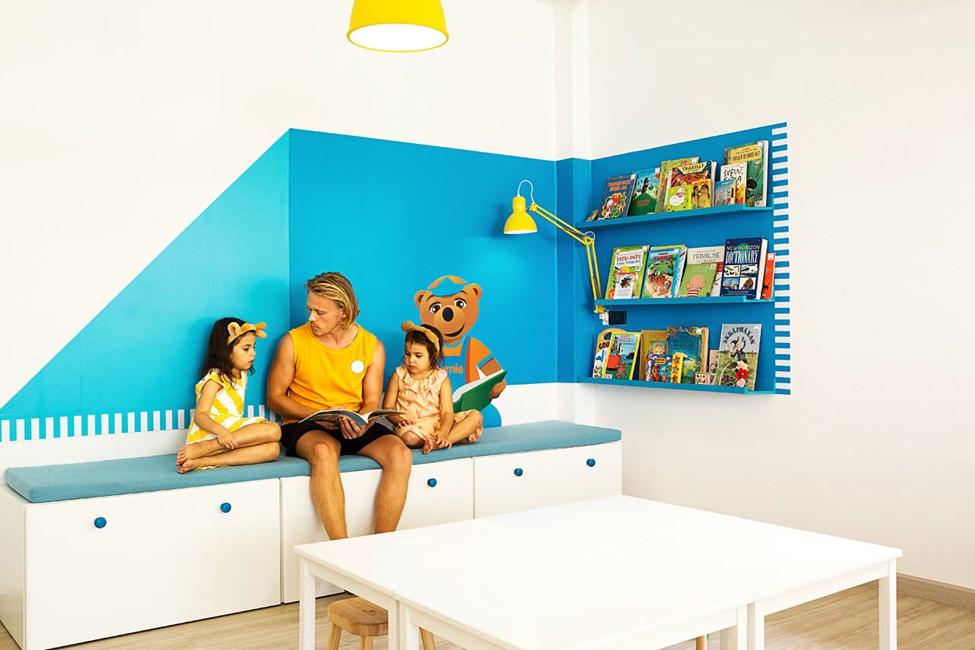 I Lollo & Bernie's Mini Land kan barnen bland annat leka, pyssla och lyssna på saga.