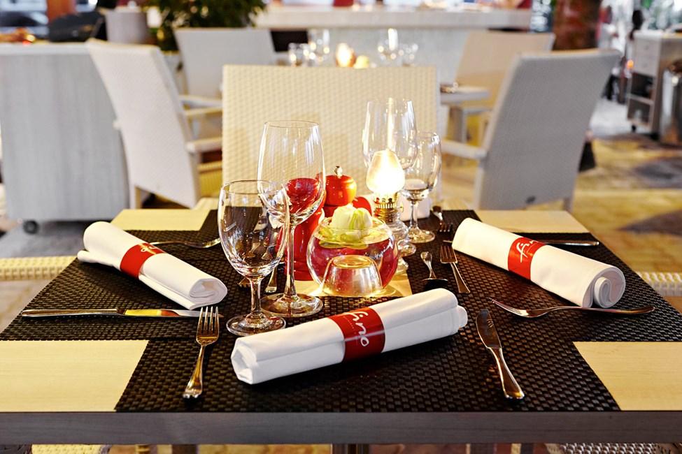 Eleganta och moderna restaurangen Fino Restaurant & Grill.