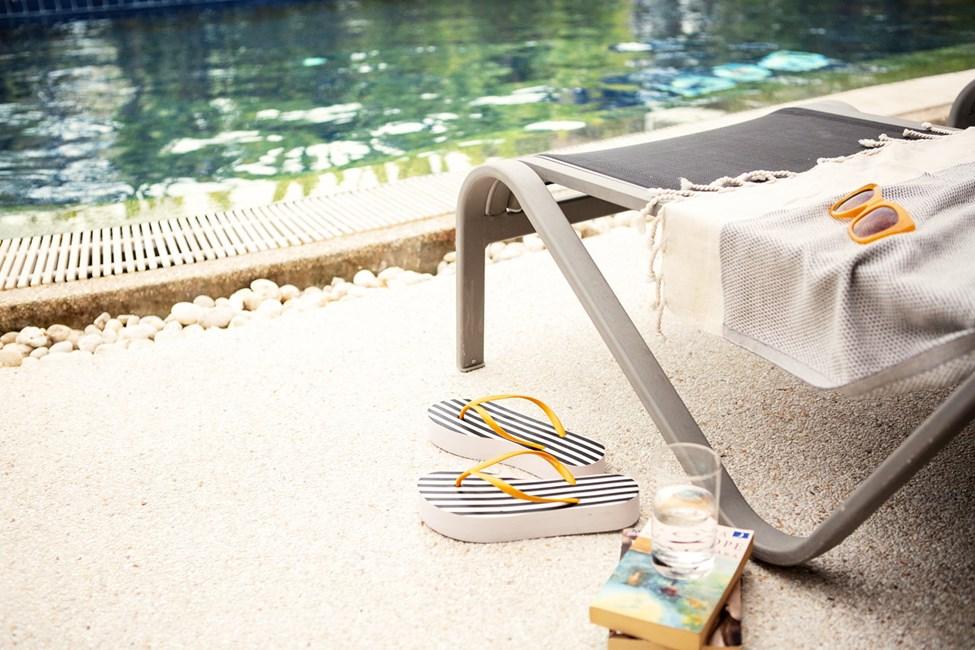 Enrumssvit ROYAL POOL SUITE, terrass med direkt access till hotellets pool