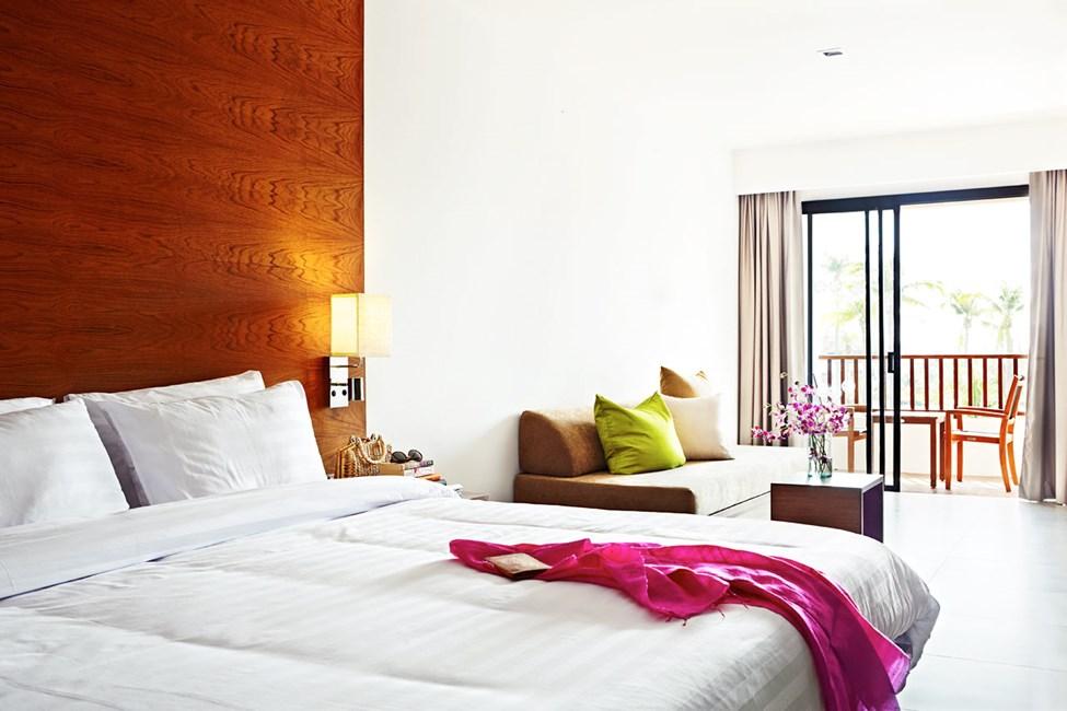 Classic Suite med kombinerat sov- och vardagsrum.