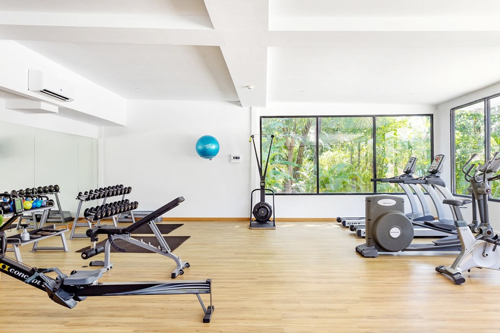 Passa på att träna i vårt nybyggda gym.