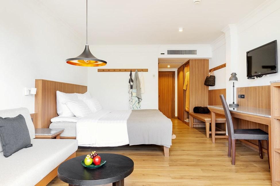 Nyrenoverat Classic Suite 1 rum, balkong mot trädgården