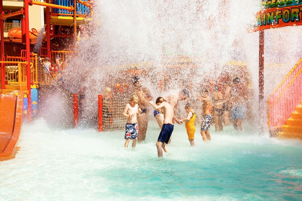 På Grand Waterworld Makadi trivs alla badtokiga barn