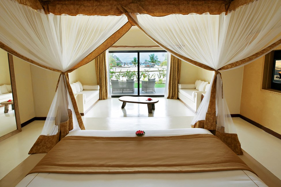 Beach suite med terrass mot havet