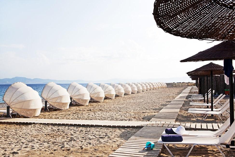 Psalidi Beach nedanför hotellet