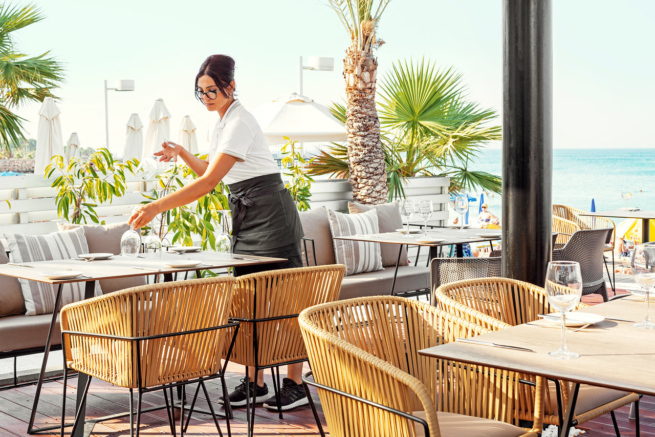Hotellets trevliga restaurang