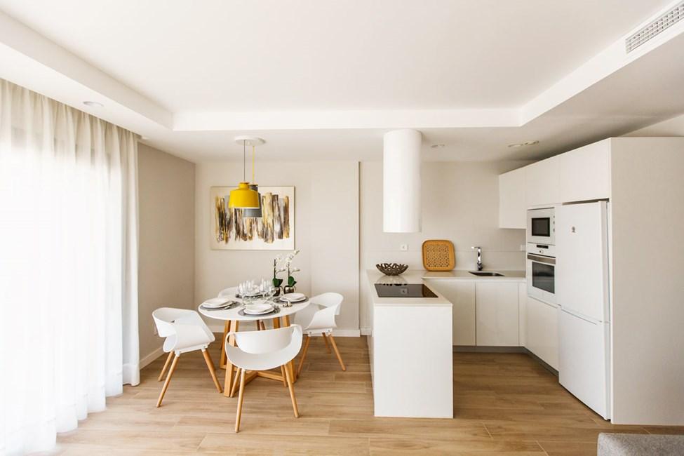 Exempel på pentry i lägenheterna