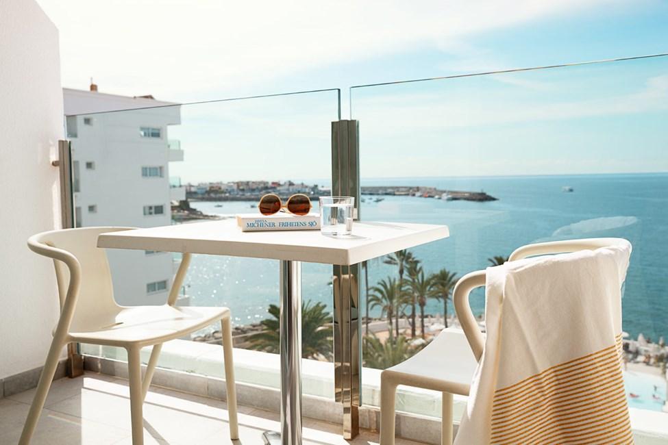 Enrumslägenhet FAMILY, liten balkong med havsutsikt, sovalkov