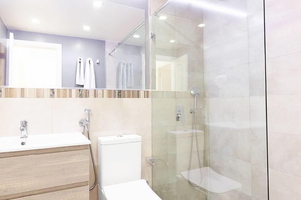 Badrum i lägenheterna