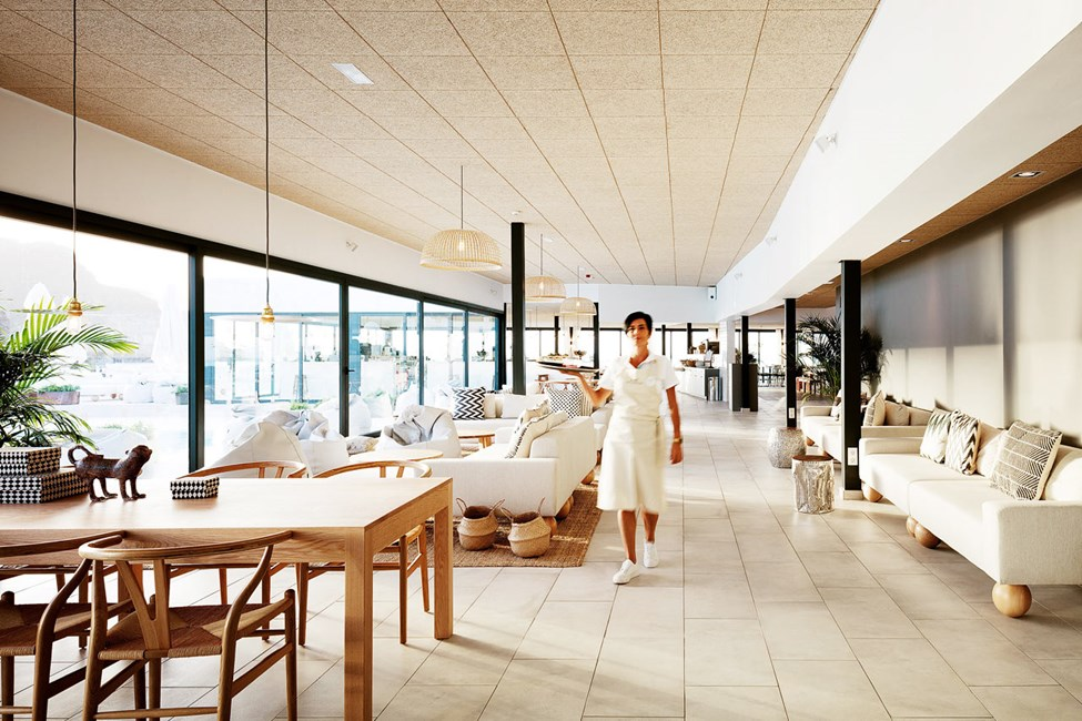 Loungen blir lätt ditt nya vardagsrum under semestern.