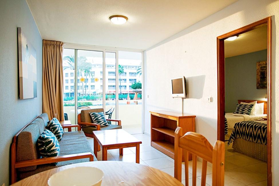 Vardagsrum i två- eller trerumslägenhet