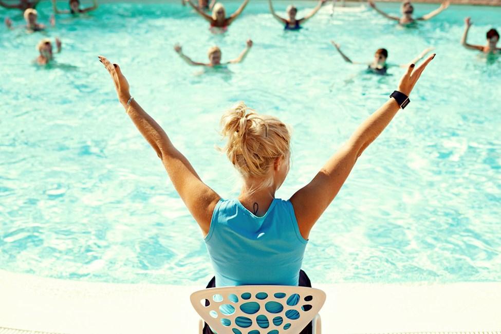Water Aerobics, en av de populäraste aktiviteterna alla kategorier