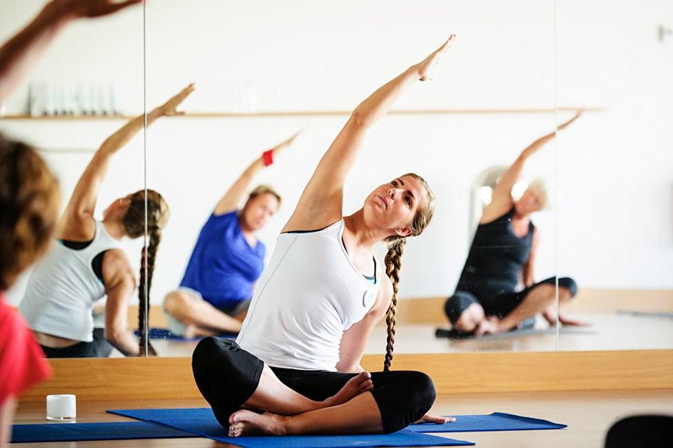 På Sunprime ingår yoga och annan gruppträning med SATS ELIXIA-utbildade instruktörer.