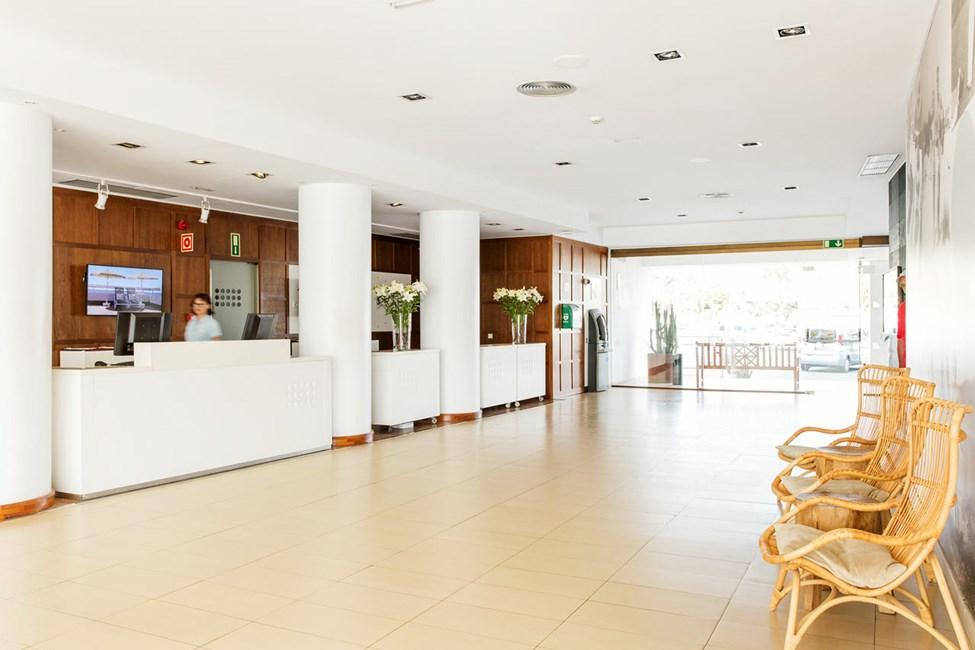 Hotellets receptionsområde
