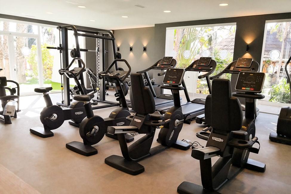 Hotellets nyrenoverade gym