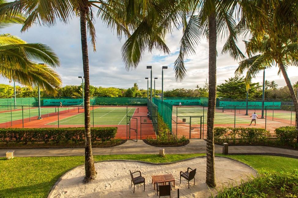 Hotellets tennisbanor