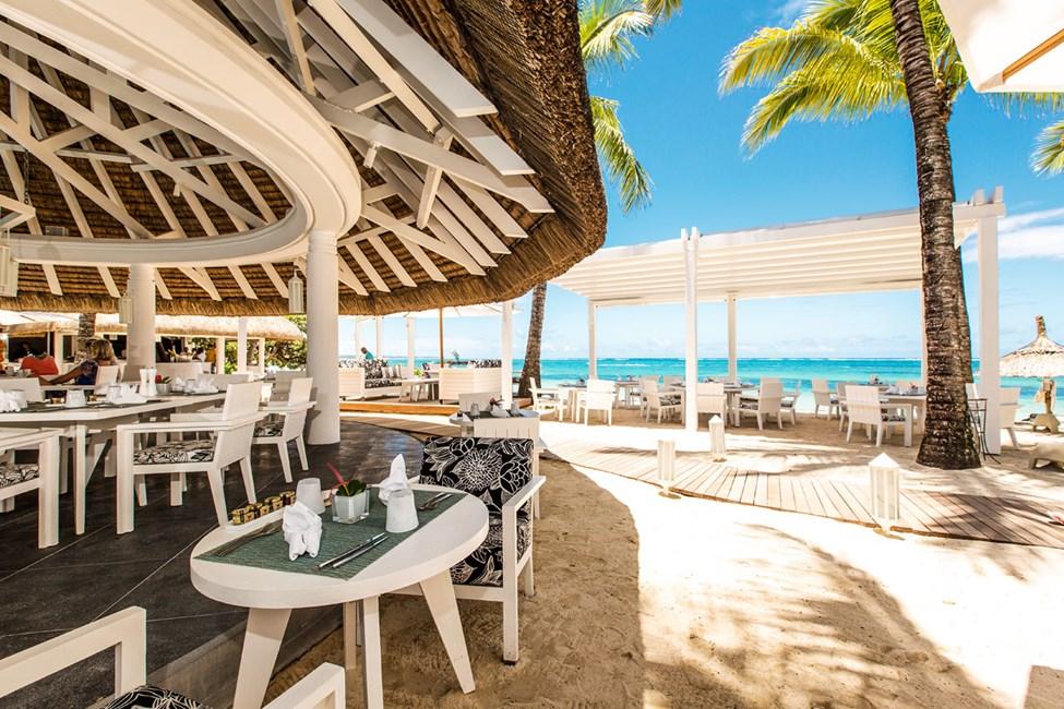 À la carte-restaurang vid stranden