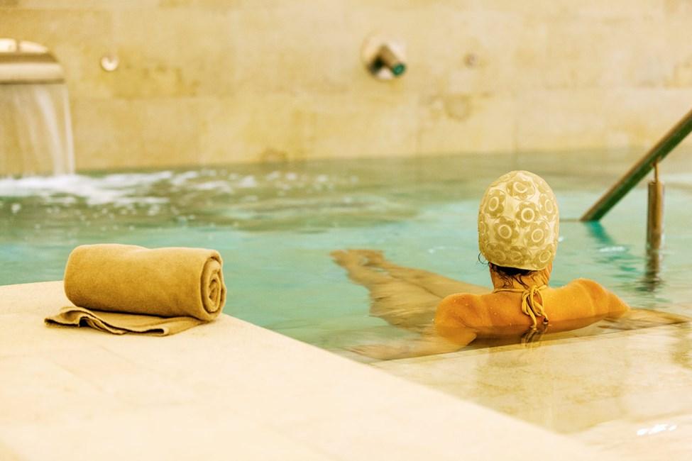I hotellets spa kan du välja mellan flera sköna behandlingar.