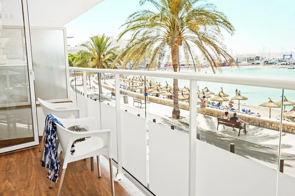 Classic Room 1 rum, balkong med havsutsikt, i hotelldel närmast stranden