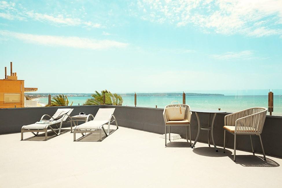 Junior Suite 2 rum, stor balkong med havsutsikt