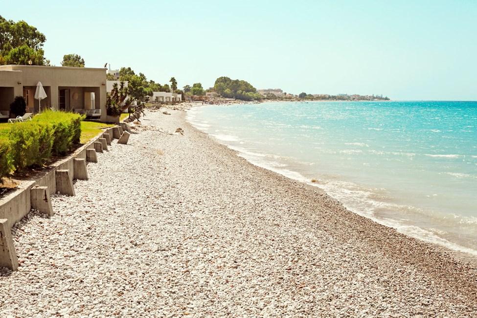 Stranden vid Sunprime Miramare beach