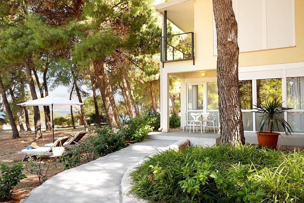Tvårumslägenhet med terrass mot havet i Garden-byggnaden