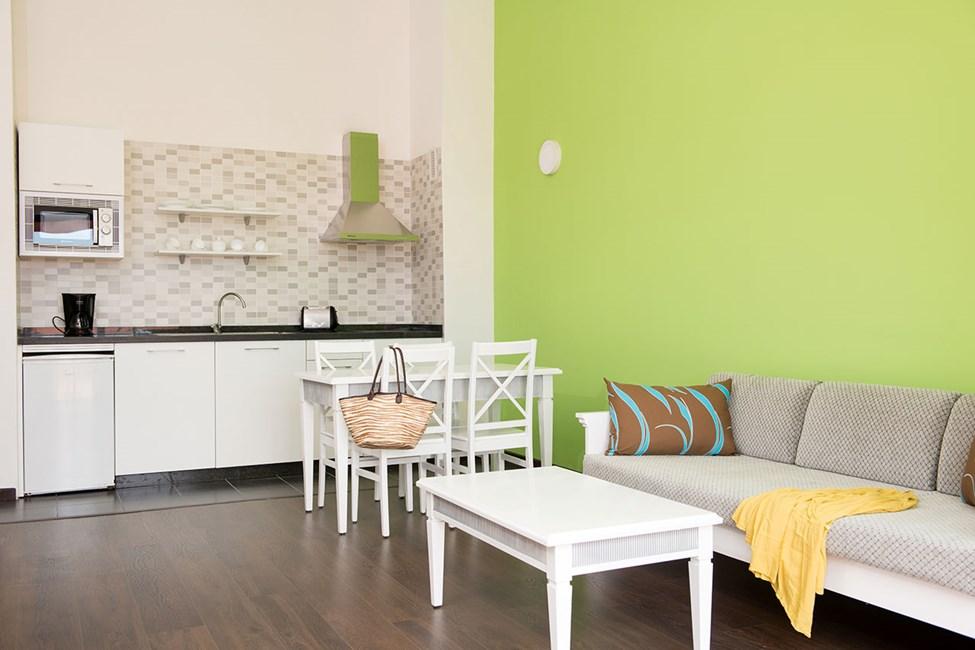 Kök/vardagsrum i en tvårumslägenhet