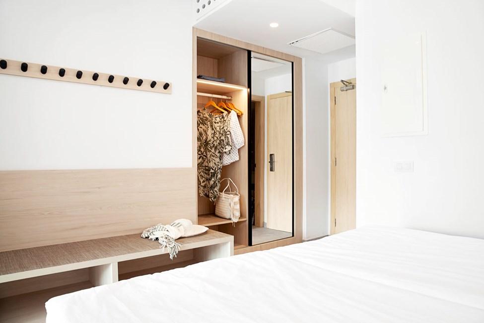 Från hösten 2021. Bilden visar ett exempel på hur en lägenhet kan se ut efter renoveringen, kan kommas att ändras.